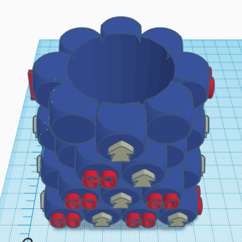 3.png Télécharger fichier STL gratuit Pot de fleurs - Crayon GO ! • Objet pour imprimante 3D, jolucomo