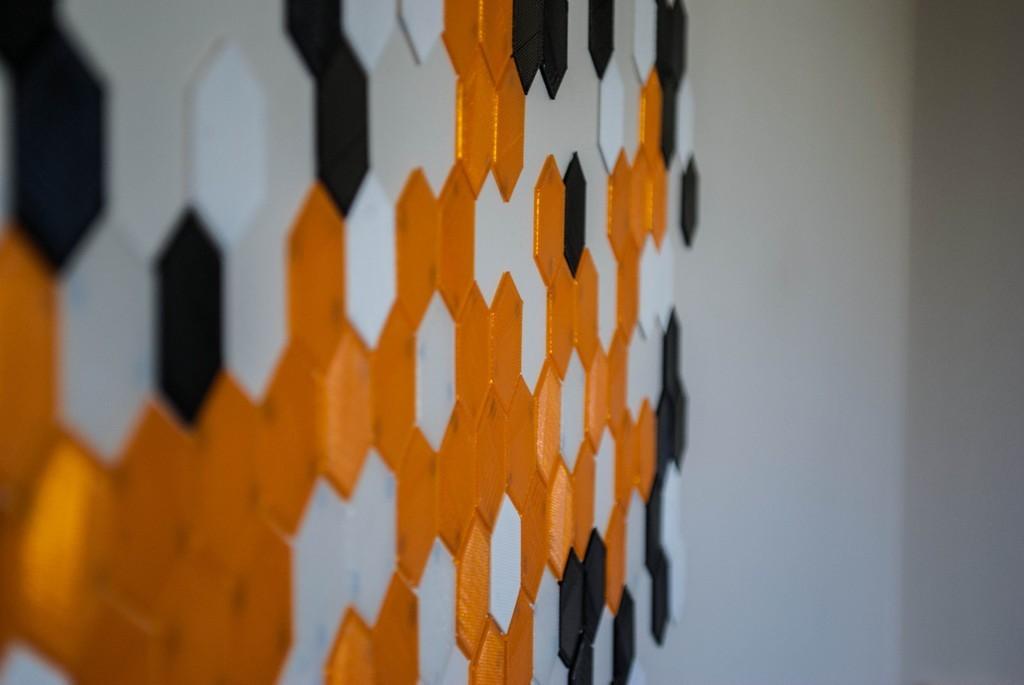 004_display_large.jpg Download free STL file Hexagon Tile Art • 3D printer template, Morcelkin
