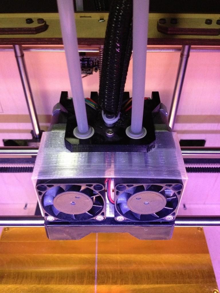 image_display_large.jpg Download free STL file Dual Extruder Fan Shroud • 3D printable model, Morcelkin