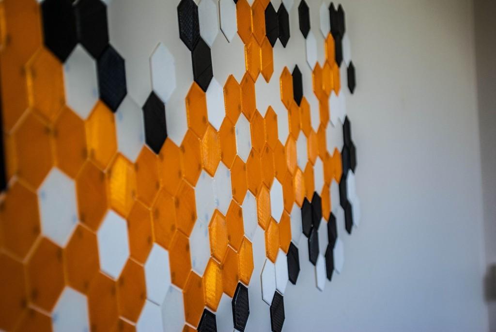 003_display_large.jpg Download free STL file Hexagon Tile Art • 3D printer template, Morcelkin