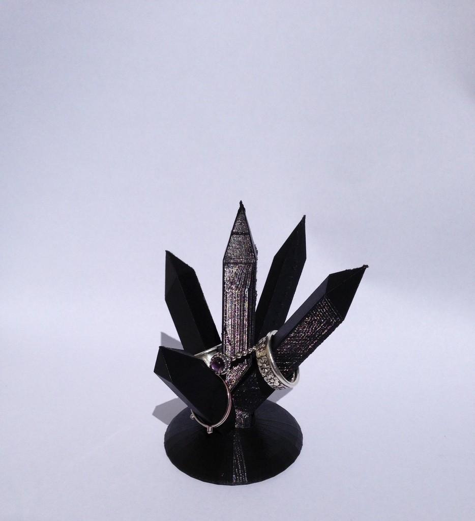 photo_display_large.jpg Download free STL file Crystal Ring Quintet • 3D printable design, Morcelkin