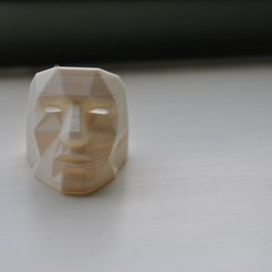 Free 3D print files Low Poly Mask Ring Edition, Morcelkin