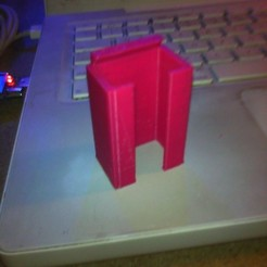 Download free 3D printer designs 9Volt battery Holder, Morcelkin
