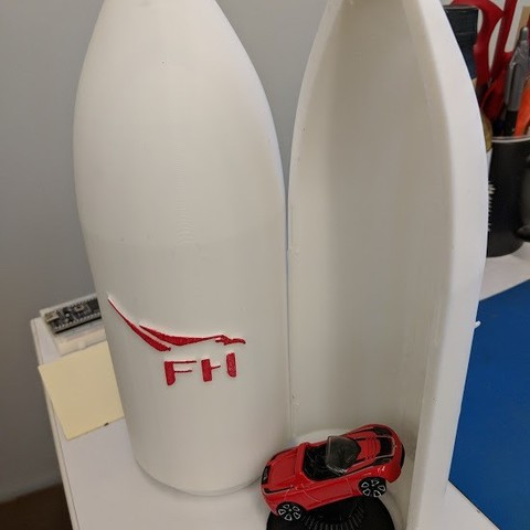 874bf1334fc31bc56e899d4f5cf3ec20_display_large.jpg Download free STL file Matchbox Roadster Falcon Heavy Fairings • Design to 3D print, Morcelkin