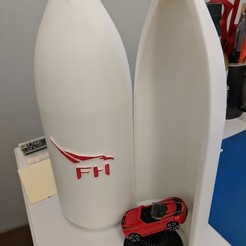 Download free 3D printing designs Matchbox Roadster Falcon Heavy Fairings, Morcelkin