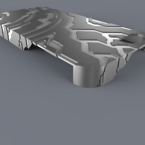 Download free 3D printer designs Halo themed Iphone 5 Case, aevafortinhi