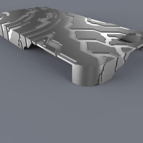 Free 3D printer designs Halo themed Iphone 5 Case, aevafortinhi