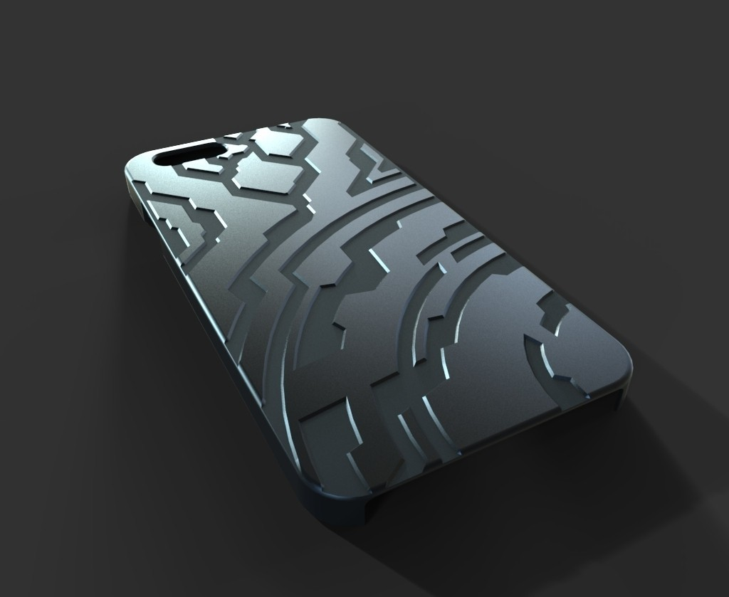 untitled.15_display_large.jpg Télécharger fichier STL gratuit Étui pour Iphone 6 (Thème Halo) • Plan à imprimer en 3D, aevafortinhi