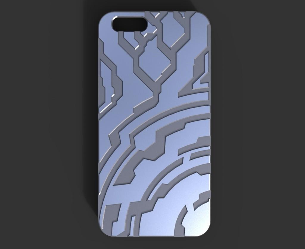 Iphone_6_case.21_display_large.jpg Télécharger fichier STL gratuit Étui pour Iphone 6 (Thème Halo) • Plan à imprimer en 3D, aevafortinhi