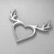 Descargar archivos 3D gratis Collar Corazón de Ciervo, aevafortinhi
