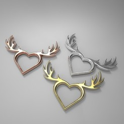 Free 3D printer model Deer Heart Necklace, aevafortinhi