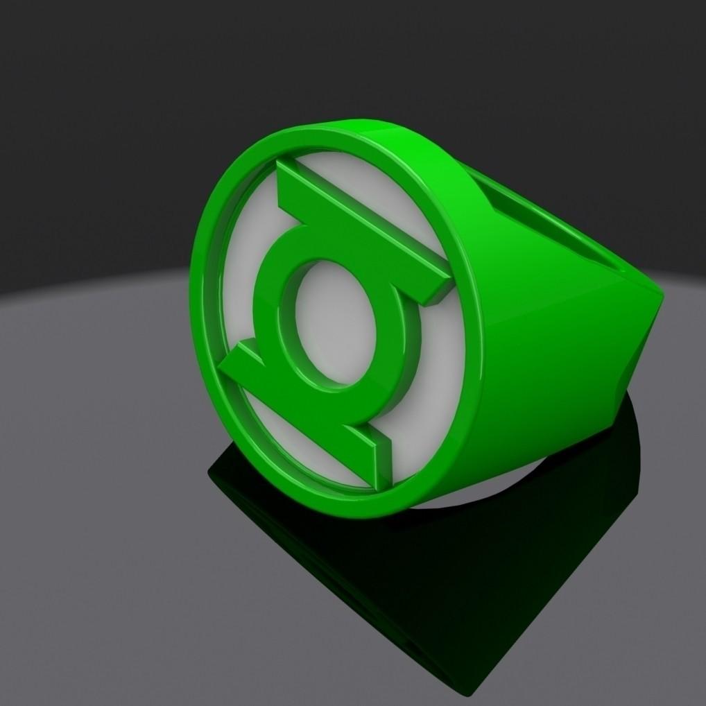 green_lantern_ring_display_large_display_large.jpg Télécharger fichier STL gratuit Bague Lanterne Verte • Modèle à imprimer en 3D, aevafortinhi