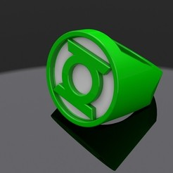Free STL file Green Lantern Ring, aevafortinhi
