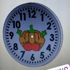 Download 3D printer templates Wall clock watch, agimp