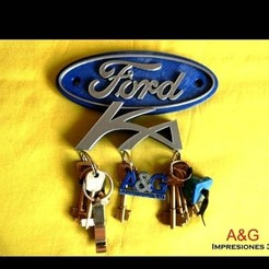 Download 3D printer files key chain support Ford, agimp