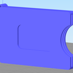 Loop Front.PNG Download STL file Minimalist Wallet with Keychain Loop and with MoneyClip • 3D printing object, jhegs22
