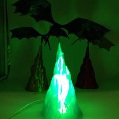 3D printer models Dragon GoT Lamp, Youli