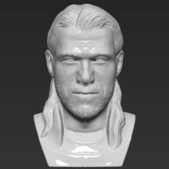 Download 3D printer designs Thor Chris Hemsworth Avengers bust 3D printing ready stl obj, PrintedReality