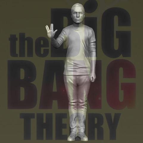 Sheldon Big Bang Theory 3D printing ready stl obj
