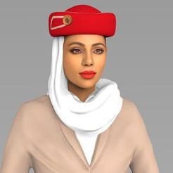 Download STL files Emirates Airline stewardess ready for full color 3D printing, PrintedReality