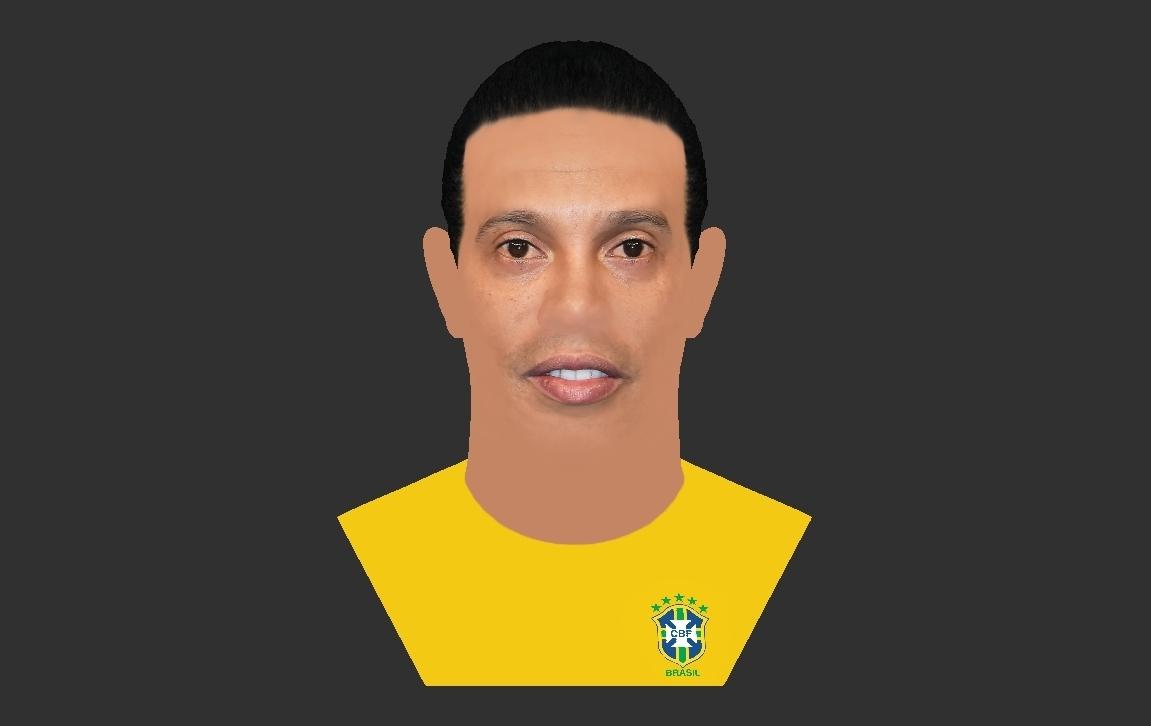 27.jpg Download STL file Ronaldinho bust ready for full color 3D printing • 3D print model, PrintedReality