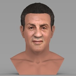 untitled.2006.jpg Download STL file Sylvester Stallone Rocky Balboa bust for full color 3D printing • 3D printer model, PrintedReality