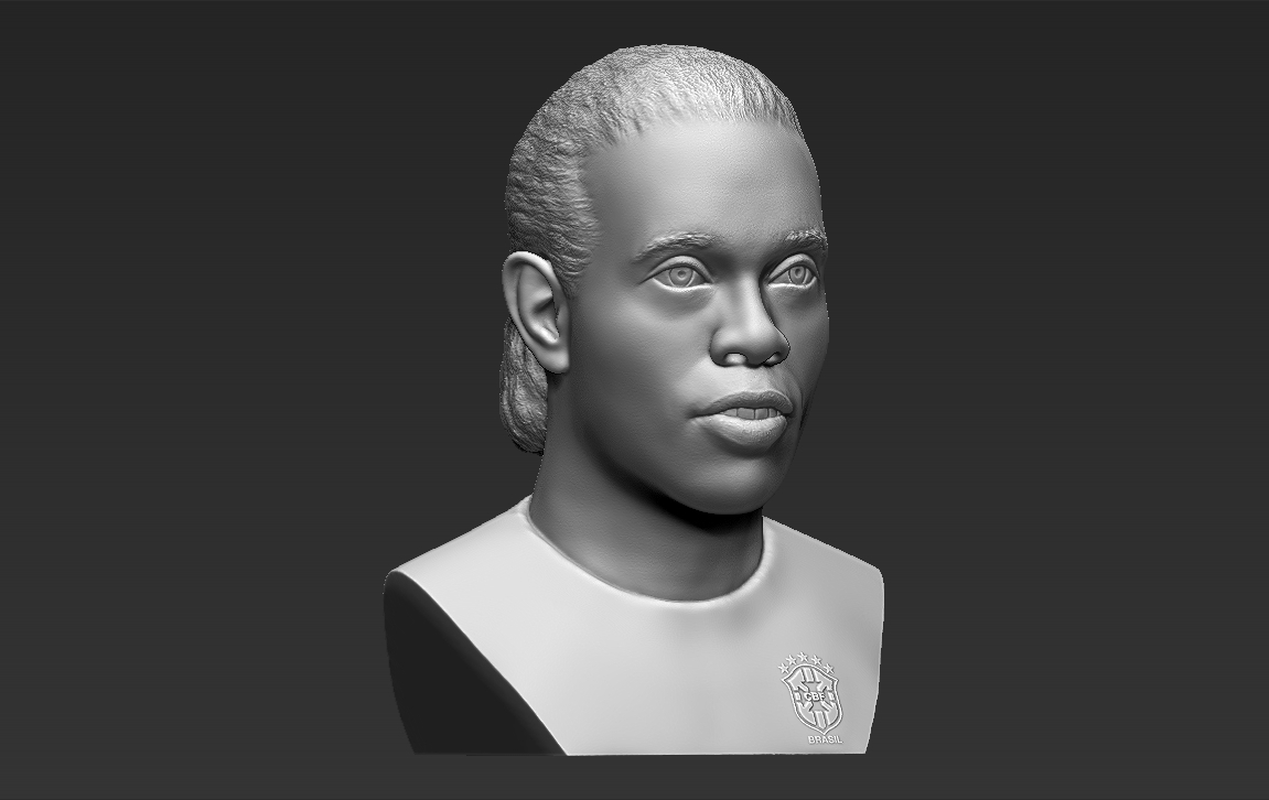 10.jpg Download STL file Ronaldinho bust 3D printing ready stl obj formats • 3D printable template, PrintedReality