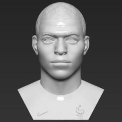 Descargar archivo STL El busto de Kylian Mbappe en 3D listo para la impresión en formatos stl obj. • Modelo para la impresora 3D, PrintedReality