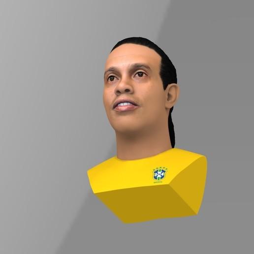 untitled.1691.jpg Download STL file Ronaldinho bust ready for full color 3D printing • 3D print model, PrintedReality