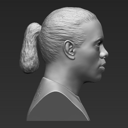 8.jpg Download STL file Ronaldinho bust 3D printing ready stl obj formats • 3D printable template, PrintedReality