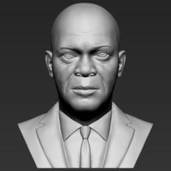 Download STL Samuel L Jackson bust 3D printing ready stl obj formats, PrintedReality