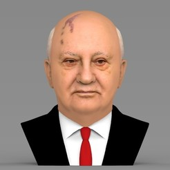 untitled.1756.jpg Download STL file Mikhail Gorbachev bust ready for full color 3D printing • 3D print template, PrintedReality