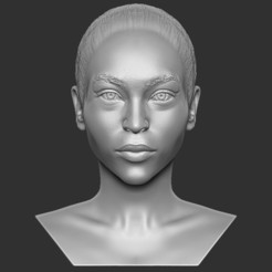 1.jpg Download STL file Beautiful afroamerican woman bust 3D printing ready TYPE 4 • Template to 3D print, PrintedReality