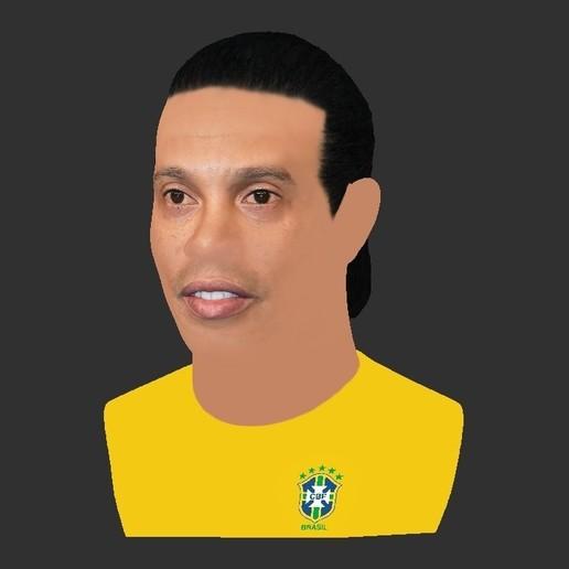 28.jpg Download STL file Ronaldinho bust ready for full color 3D printing • 3D print model, PrintedReality