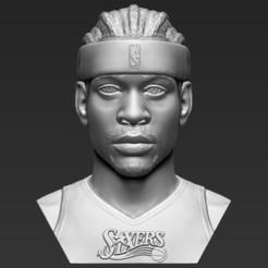 1.jpg Download STL file Allen Iverson bust 3D printing ready stl obj formats • 3D printer model, PrintedReality