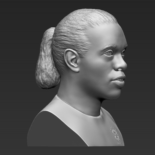 9.jpg Download STL file Ronaldinho bust 3D printing ready stl obj formats • 3D printable template, PrintedReality
