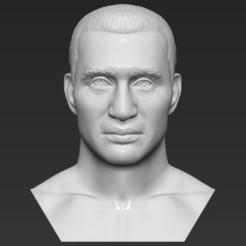 Download 3D printing models Wladimir Klitschko bust 3D printing ready stl obj formats, PrintedReality