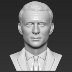 1.jpg Download STL file Emmanuel Macron bust 3D printing ready stl obj formats • 3D print object, PrintedReality