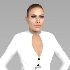 Download 3D printing designs Jennifer Lopez ready for full color 3D printing, PrintedReality