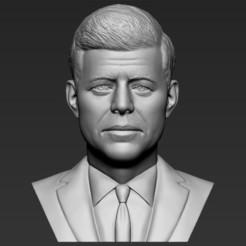 1.jpg Download STL file John F Kennedy bust 3D printing ready stl obj formats • 3D printer design, PrintedReality