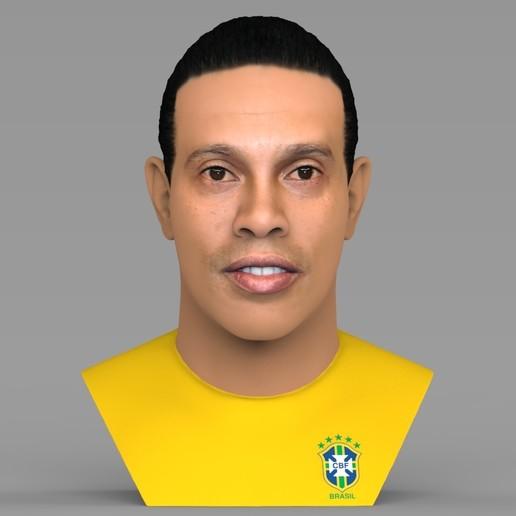 untitled.1679.jpg Download STL file Ronaldinho bust ready for full color 3D printing • 3D print model, PrintedReality