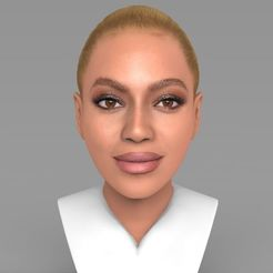 3D print files Beyonce Knowles bust ready for full color 3D printing, PrintedReality