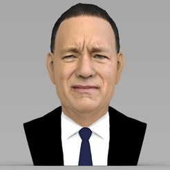 Download 3D printing designs Tom Hanks bust ready for full color 3D printing, PrintedReality