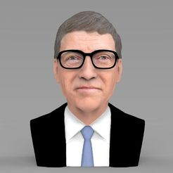Download 3D printer templates Bill Gates bust ready for full color 3D printing, PrintedReality