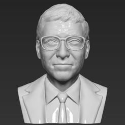 Download 3D model Bill Gates bust 3D printing ready stl obj, PrintedReality