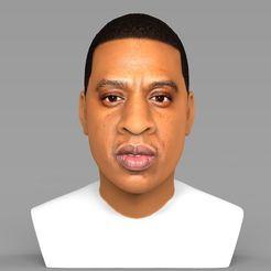 Télécharger fichier imprimante 3D Buste Jay-Z prêt pour l'impression 3D couleur, PrintedReality