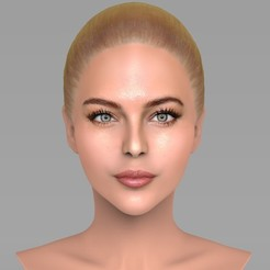 untitled.213.jpg Download STL file Beautiful blonde woman bust ready for full color 3D printing TYPE 8 • 3D printer template, PrintedReality