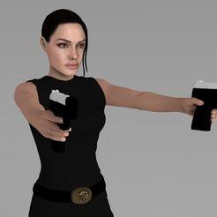 STL Lara Croft Tomb Raider Jolie ready for full color 3D printing, PrintedReality