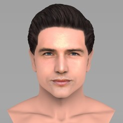 untitled.294.jpg Download STL file Handsome man bust ready for full color 3D printing TYPE 1 • 3D print model, PrintedReality