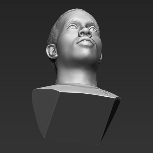 21.jpg Download STL file Ronaldinho bust 3D printing ready stl obj formats • 3D printable template, PrintedReality